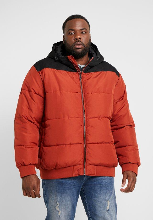 ONSBOSTON BLOCK  HOOD  - Winter jacket - burnt henna/colourblock