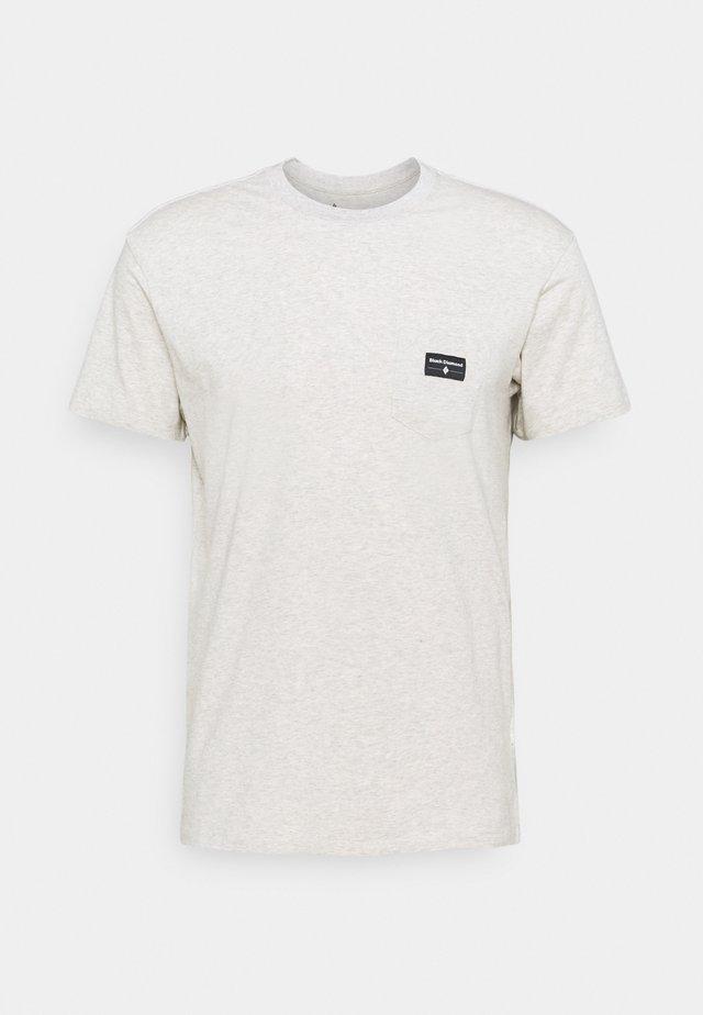 POCKET LABEL TEE - Basic T-shirt - birch heather