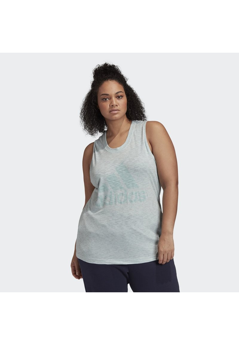 adidas Performance - WINNERS TANK TOP (PLUS SIZE) - Top - green