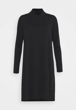 OBJANNIE HIGHNECK DRESS TALL - Žerzejové šaty - black