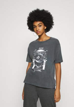 LA LUNE TEE - Print T-shirt - grey