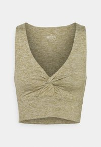 Cotton On Body - SO PEACHY TWIST FRONT VESTLETTE - Top - oregano marle - 0