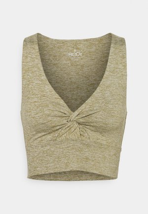 SO PEACHY TWIST FRONT VESTLETTE - Top - oregano marle