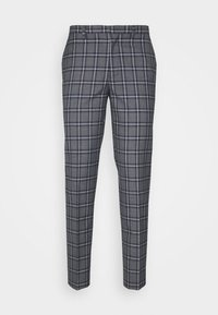 Burton Menswear London - GREY NAVY TARTAN TROUSERS - Kostymbyxor - grey - 3