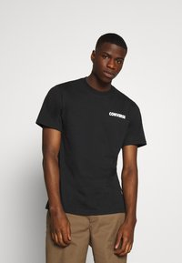 Converse - ALL STAR  ARCHIVE TEE - Print T-shirt - black - 2