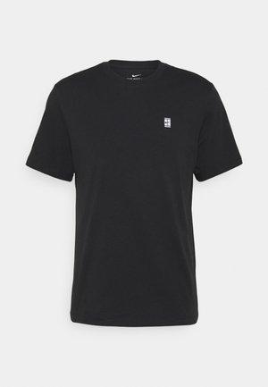 COURT TEE - T-shirt basique - black/white