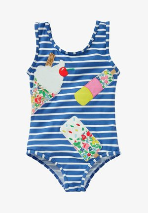 MIT APPLIKATION - Swimsuit - elisabethanisches blau, eiscreme