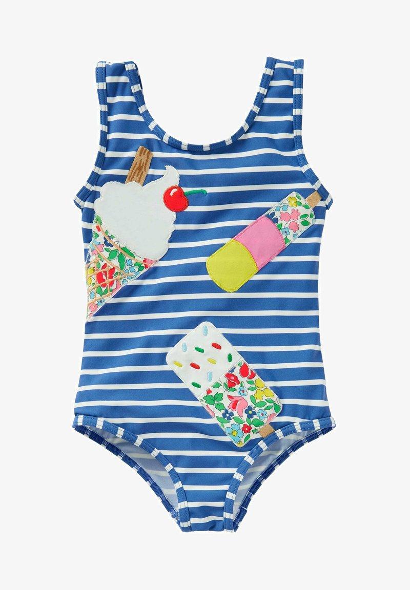 Boden - MIT APPLIKATION - Swimsuit - elisabethanisches blau, eiscreme