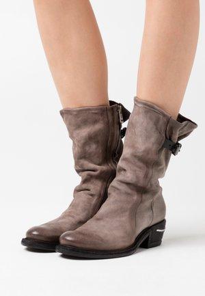 Cowboy/Biker boots - smoke/nero