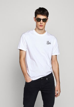 CHEST LOGO WRITING - T-shirt imprimé - white