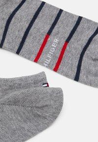 Tommy Hilfiger - MEN SNEAKER BRETON STRIPE 2 PACK - Socks - mid grey melange - 1