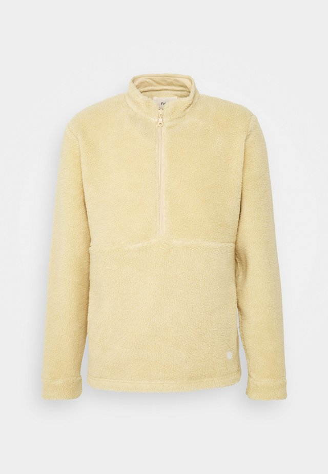 FUNNEL - Fleece jumper - tan