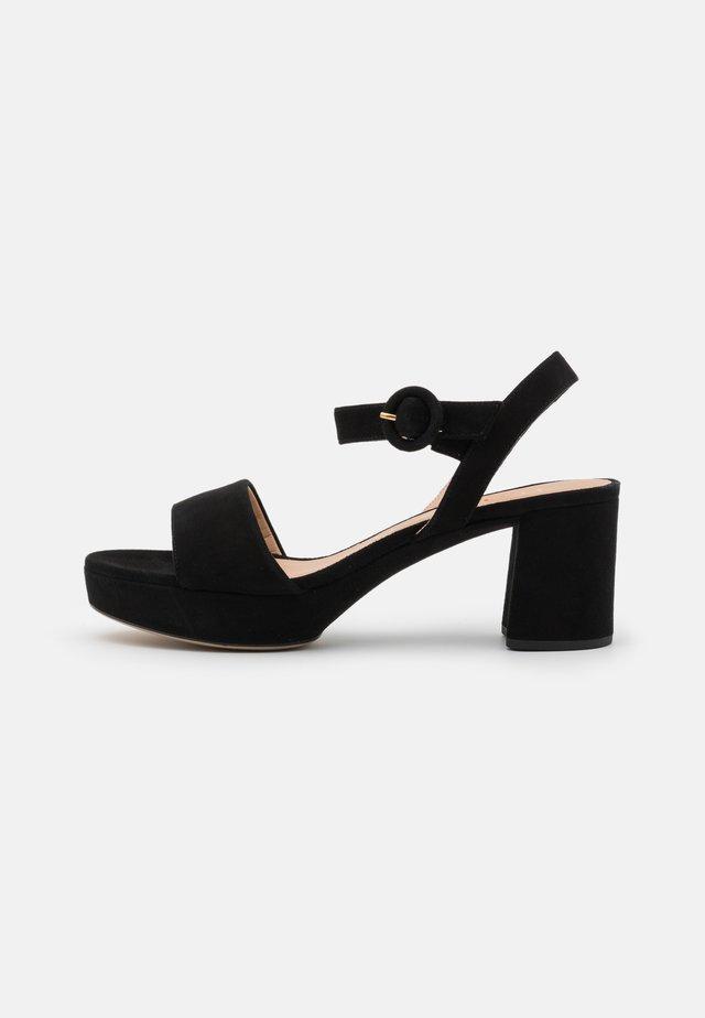 NENES - Sandały na platformie - black