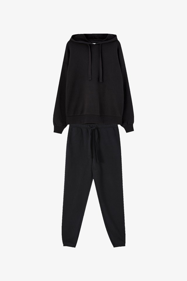 SET - Bluza z kapturem - black