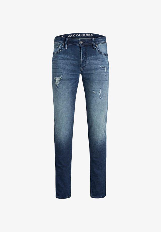 GLENN ORIGINAL INDIGO KNIT - Slim fit jeans - blue denim