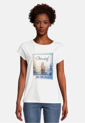 Print T-shirt - classic blue/nature