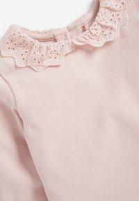 Next - BRUSHED BRODERIE COLLAR  - Langærmede T-shirts - pink - 2