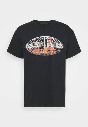 A$AP FERG FLAME GLOBE  - Print T-shirt - black