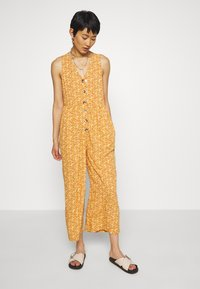 Madewell - TANK BUTTON FRONT CHALLIS IN FLORAL - Jumpsuit - vine floral mulled cider - 1