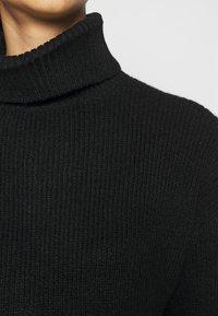 Even&Odd - LONG LINE ROLL NECK - Jersey de punto - black - 5