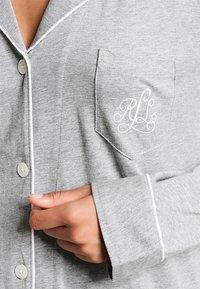Lauren Ralph Lauren - HAMMOND CLASSIC NOTCH COLLAR  - Pyjama set - heather grey - 4