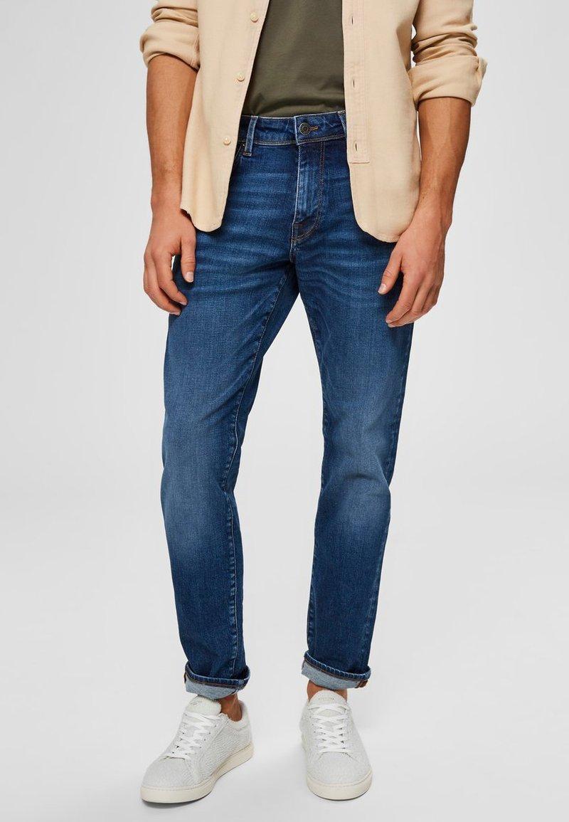 Selected Homme - Jeans straight leg - medium blue denim