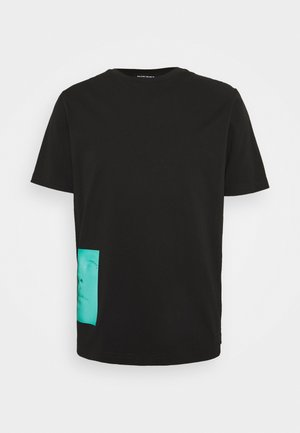 T-JUST SLITS  UNISEX - Print T-shirt - black