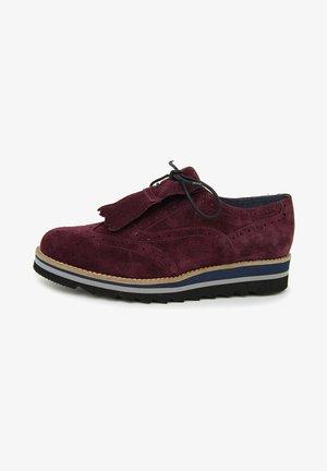 ADELAIDE  - Zapatos con cordones - burdeos