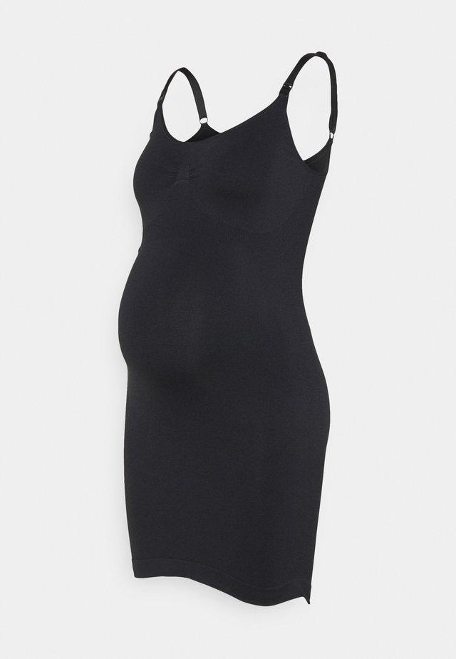SEAMLESS NURSING DRESS - Noční košile - black