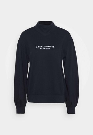SEASONAL LOGO MOCK NECK CREW  - Mikina - navy