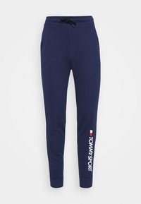 Tommy Hilfiger - CUFF PANT LOGO - Tracksuit bottoms - blue - 4