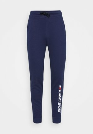 CUFF PANT LOGO - Tracksuit bottoms - blue