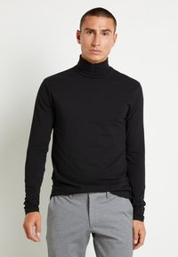 Only & Sons - ONSMICHAN SLIM ROLLNECK TEE - Maglietta a manica lunga - black - 0