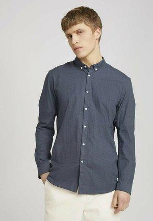 Overhemd - navy dotted fan print