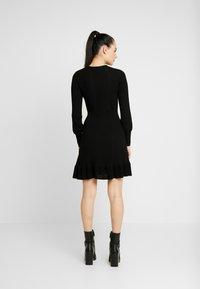 Forever New - LONG SLEEVE RIBBED DRESS - Jumper dress - black - 3
