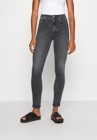 Calvin Klein Jeans - HIGH RISE SKINNY - Jeansy Skinny Fit - grey - 0