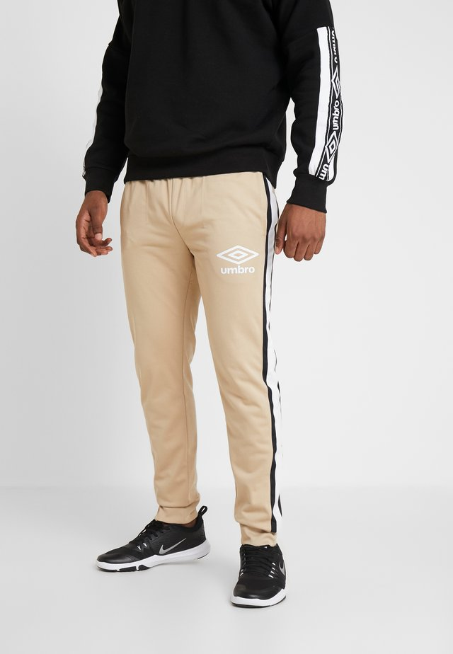 PANELLED TRACK PANT - Tracksuit bottoms - beige/black/brilliant white