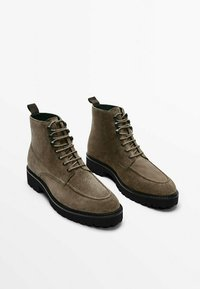 Massimo Dutti - MIT WULSTNAHT  - Lace-up ankle boots - brown - 5