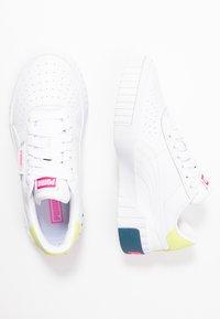 Puma - CALI - Sneakers laag - white/luminous pink - 3