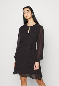 NU-IN - BALOON SLEEVE MINI DRESS - Cocktail dress / Party dress - black - 0