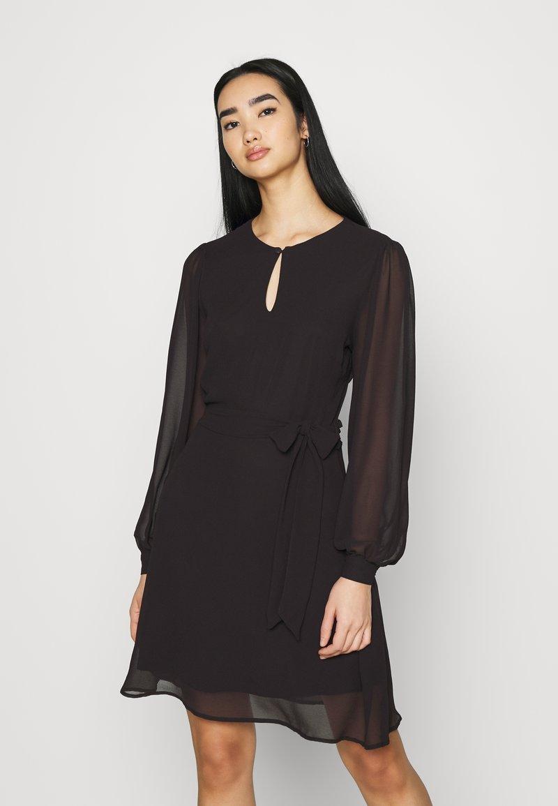 NU-IN - BALOON SLEEVE MINI DRESS - Cocktail dress / Party dress - black