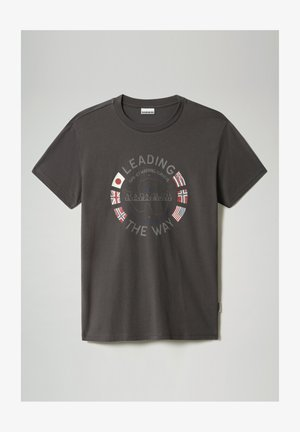 SALYA - Print T-shirt - dark grey solid
