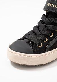 Geox - KALISPERA GIRL - Vysoké tenisky - black - 5