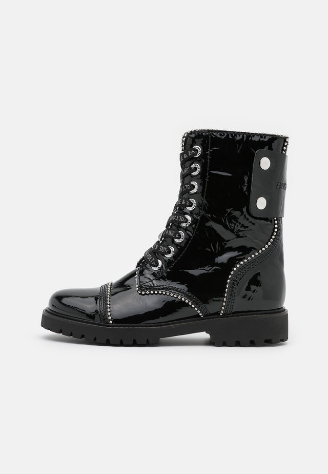 JOE WRINKLE  - Bottines à lacets - noir