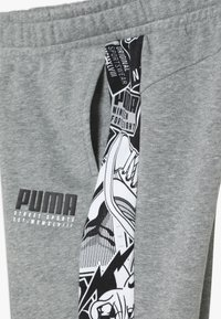 Puma - ALPHA PANTS - Tracksuit bottoms - medium gray heather - 4
