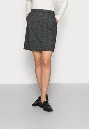 SKIRTS WOVEN - Mini skirt - black