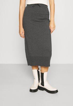 CORE SKIRT - Pencil skirt - anthracite