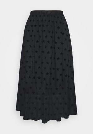 GANETT - Áčková sukně - black