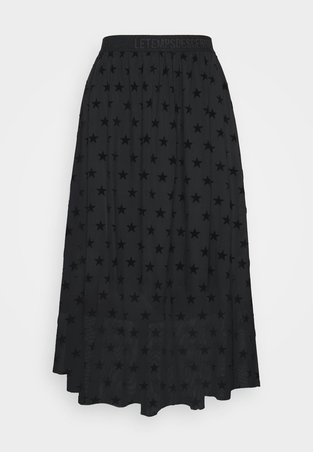 GANETT - A-line skirt - black