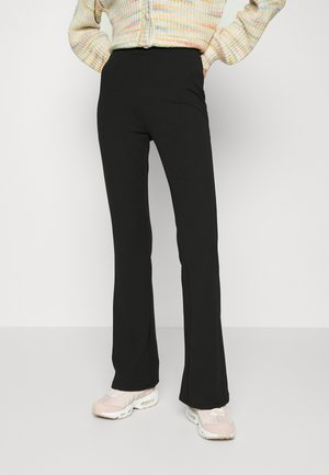 PULL ON FLARE PANT - Tracksuit bottoms - black